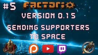 Factorio 0.15 Sending Supporters To Space EP 5: Steel Layout! - Let's Play, Gameplay