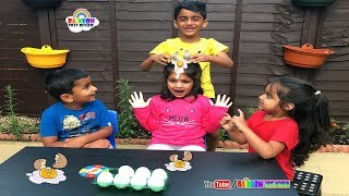 EGGED ON Egg Roulette Challenge for Kids Cutie & Friends Playing Eggs Splat Children Fun Game