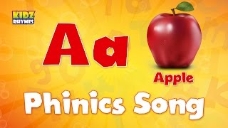 Phonics Songs | A for Apple | ABC Alphabet Song with Sounds for Children