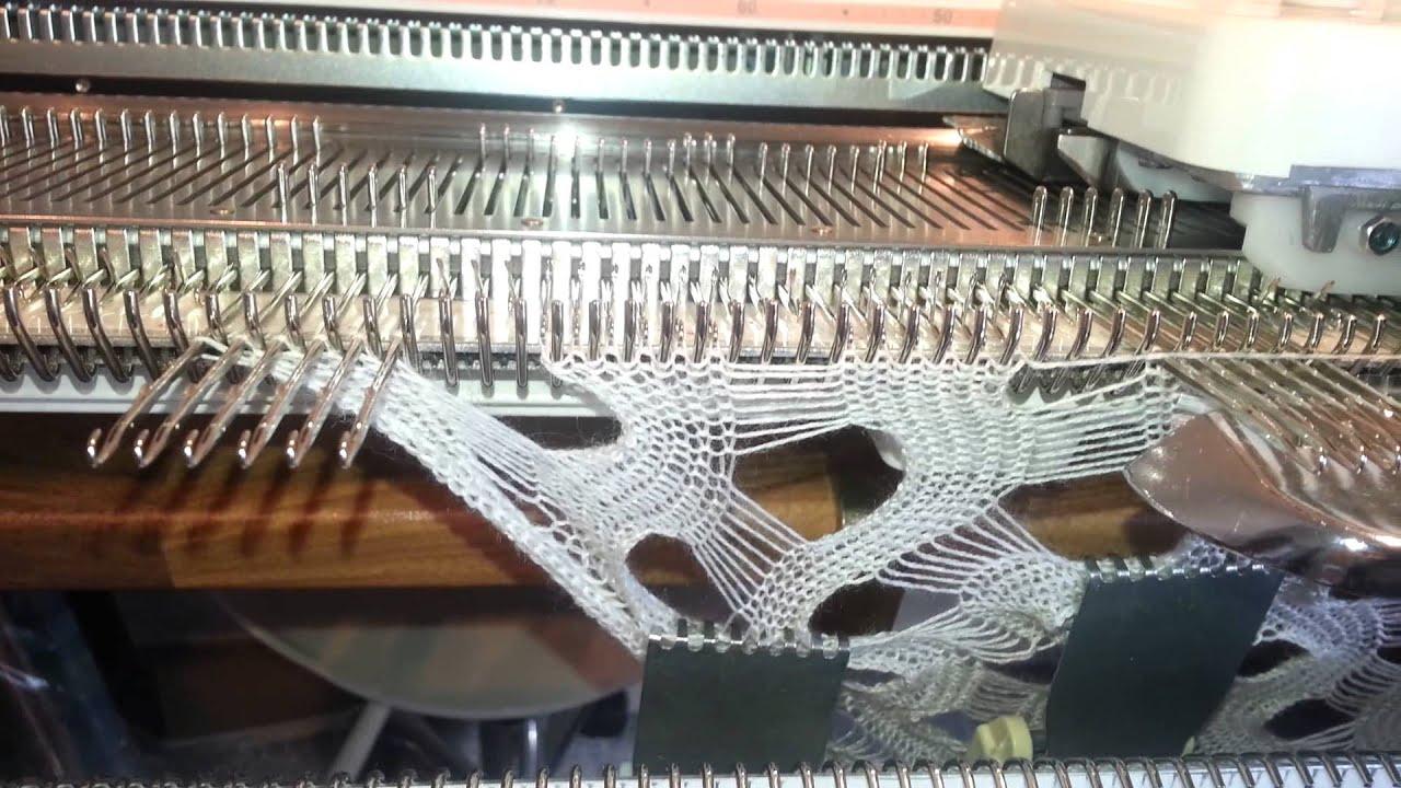 Вязание на машине silver reed 37