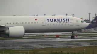 Turkish Airline Boeing 777-300ER Take off at Narita R/W16R