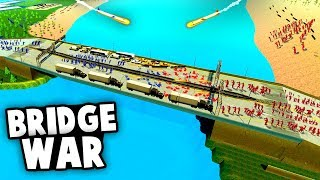 Massive Bridge Battle Challenge! Can We Reach The Other Side? (Ravenfield Best Mods)