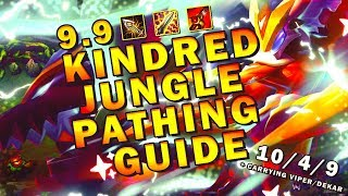 RANK 1 KINDRED 9.9 JUNGLE PATHING GUIDE CARRYING V1PER AND DEKAR - League of Legends