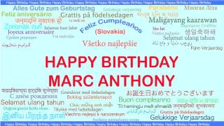 Marc Anthony   Languages Idiomas