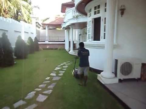 Sri lanka landscape lawn trimming gardening youtube for Home landscape design sri lanka