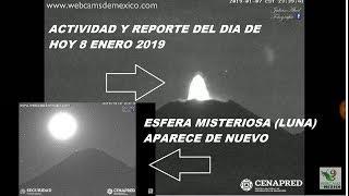 Reporte Volcánico: Esfera Aparece de nuevo (LUNA) - Actividad de las ultimas 24hrs | 8 Enero 2019