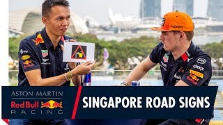 Max Verstappen and Alex Albon Test Their Singapore Street Smarts
