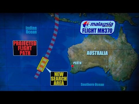 New search area for Malaysia Airlines Flight 370