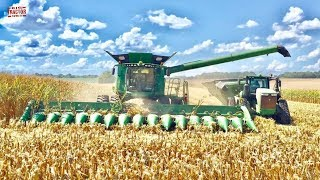 Corn Harvest 16 Rows at a Time: John Deere S690