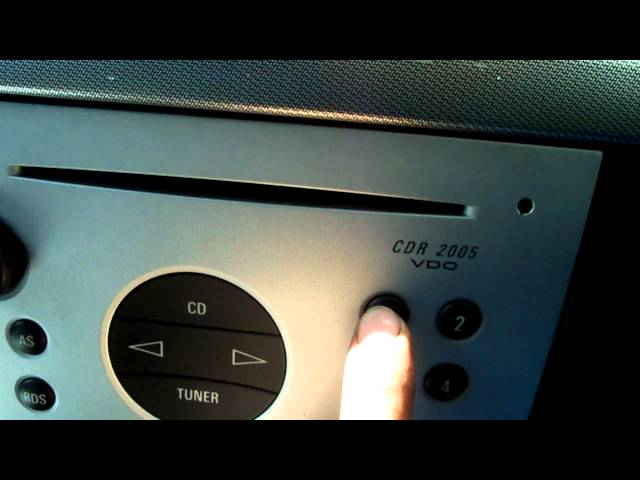 vauxhall meriva code radio - YouTube