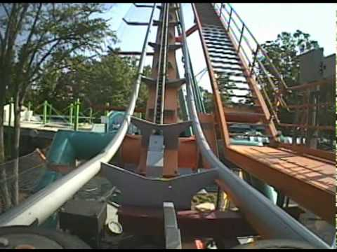Goliath Roller Coaster Front Seat POV Six Flags Over Georgia