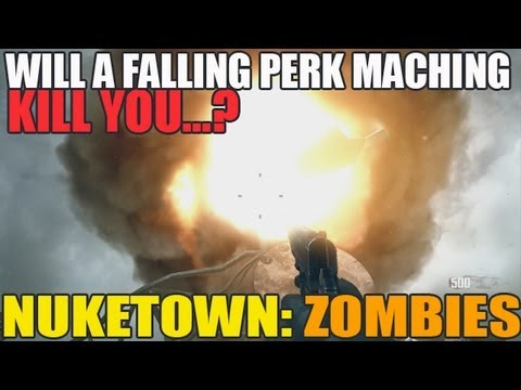 Can The Falling PERK Machine Kill You? NukeTown Zombies Tips (HD)