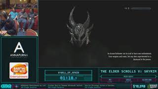 The Elder Scrolls V: Skyrim by Wall of Spain in 50:26 - AGDQ 2018 - Part 6