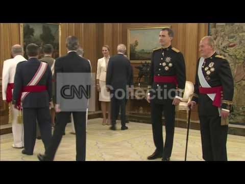 SPAIN: KING FELIPE VI RECEIVES ROYAL SASH