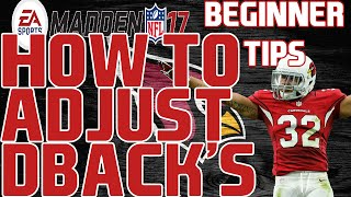 Madden 17: Beginner Tips - How To Make Defensive Back Adjustments! | Defensive Tip Videos!