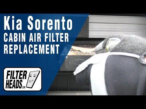 Замена салонного фильтра Kia Sorento, видео