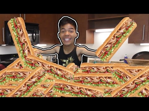 6 FOOT SUBWAY IN 6 MIN CHALLENGE!!!