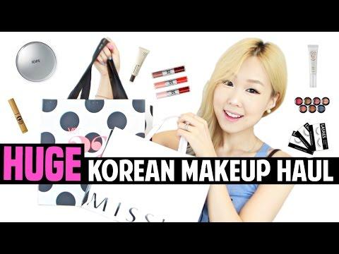 Huge Korean Makeup Haul! 한국 화장품 하울 (진짜 많음)