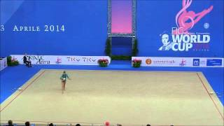 HALKINA KATSIARYNA - QUALIFICATION BALL  -  RG WC PESARO 2014