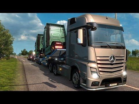 EURO TRUCK SIMULATOR 2 SCANDINAVIA / Mit Mercedes GigaSpace New Actros und Volvos durch Schweden