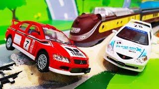 Мультики про машинки. Лего машинки попали в беду – Поезд на дороге. Мультфильмы Игрушки для детей