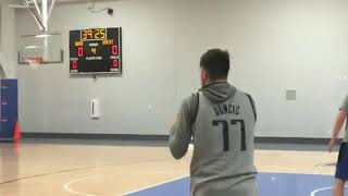 Luka Dončić Shooting Form Before Game Vs Charlotte Hornets