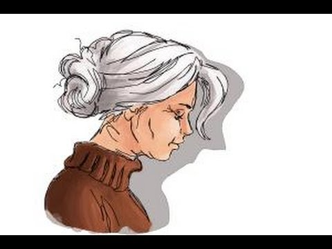 Woman Cartoon Drawing How to Draw an Old Woman