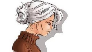 How to draw an old woman