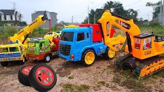 Car Toys for kids | Excavator, Dump Trucks, Container, Rescue vehicle Construction Vehicles for kids