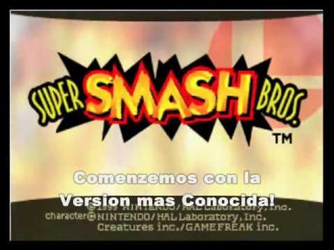 Versiones de Super Smash Bros N64 (A)! (J)! (E)! (U)! + Descarga Actualizado!
