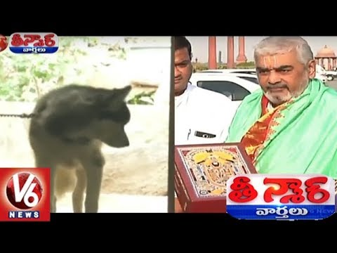 Dog Found In Former TTD Chief Priest Ramana Deekshitulu | Teenmaar News | V6 News
