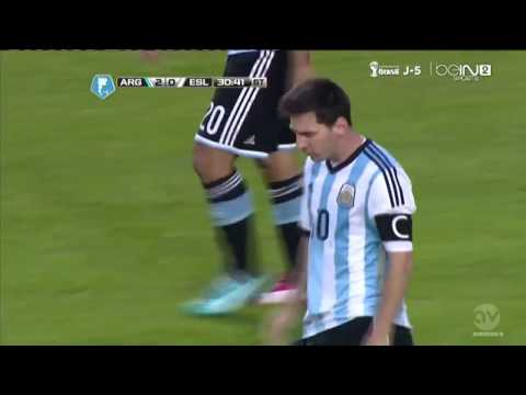 Leo Messi Goal | Argentina vs Slovenia 2-0 |Friendly Match 2014