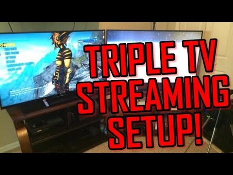 My Triple TV Streaming and Youtube Setup!