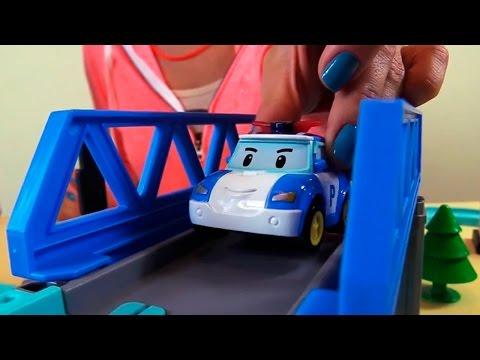 Мультфильмы про машинки - Робокар Поли - Игрушечные Машинки и Умная Трасса