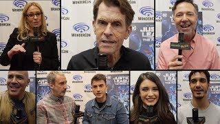 Justice League VS Fatal Five Cast & Crew Interviews at Wondercon