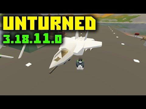 РЕАКТИВНЫЙ ИСТРЕБИТЕЛЬ! // Unturned обновление 3.18.11.0