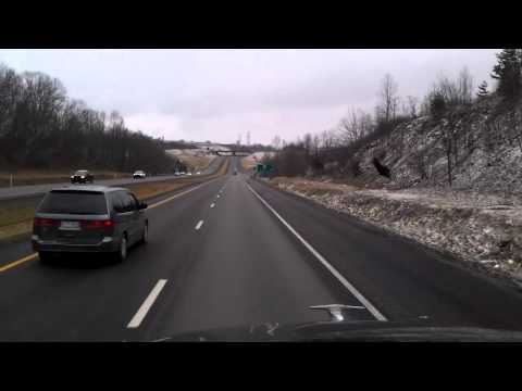 Near Morgantown, West Virginia on the National Freeway