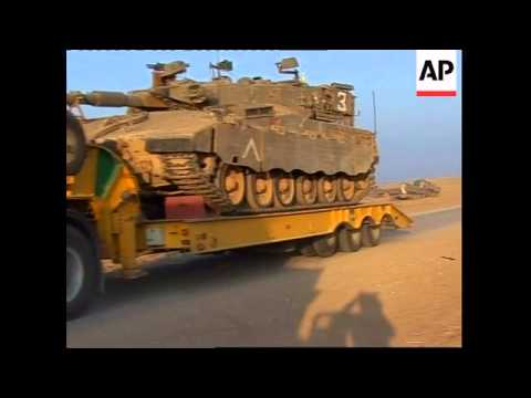 Israeli tanks seen leaving Gaza Strip