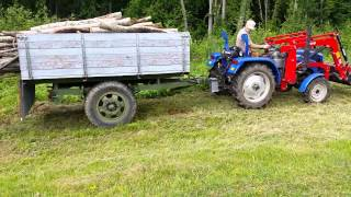 Foton 254 with homemade dump trailer- first time used