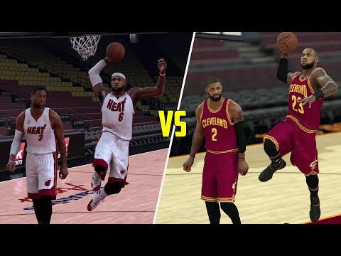 LEBRON JAMES & KYRIE IRVING VS LEBRON JAMES & DWYANE WADE! NBA 2K17 GAMEPLAY!