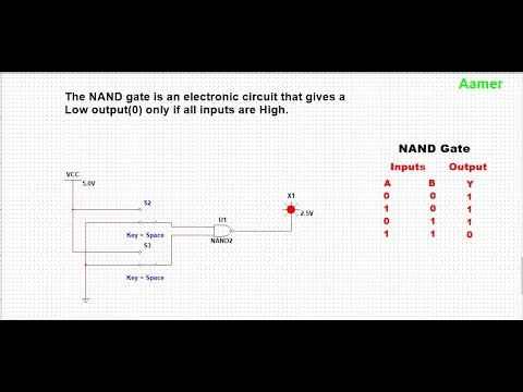 NOR and NAND Gate in Multisim in Urdu and Hindi #04 for Beginners