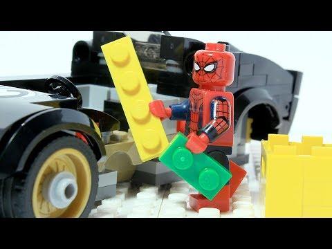 Spiderman LEGO Brick Building Fast Car Animation