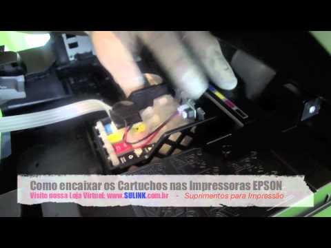Como Encaixar os Cartuchos nas Multifuncionais EPSON TX235W TX430W XP204 - SULINK