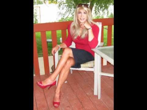 Heidi crossdresser outdoors