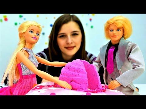 Видео для девочек про куклы: #Барби и #Кен - праздничный ужин на новый год . Игры готовить