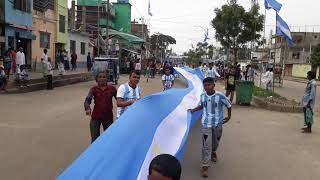 Argentina big flag rally in bangladesh...