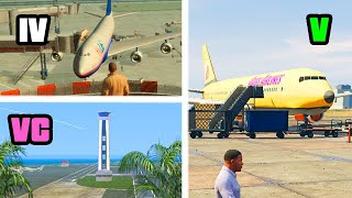 EVOLUTION of INTERNATIONAL AIRPORTS in GTA GAMES 2001-2019
