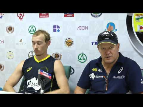 Australia v Canada post game press conference. Mens hockey. Sultan Azlan Shah Cup