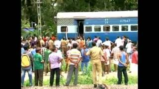 Netravati Express Train catches fire at kayamkulam
