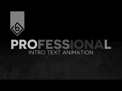 How To Create A Professional Intro Text Animation - Sony Vegas Tutorial #1